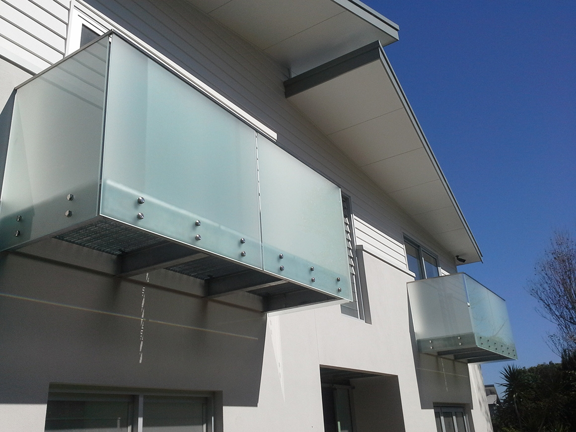 Frosted Glass Balustrade Privacy