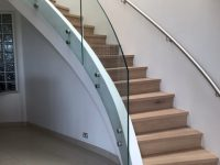 Internal winding staircase balustrade