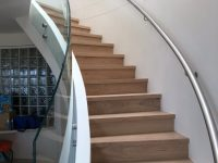 Newly installed staircase balustrades