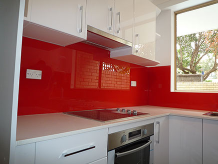 Modern Colourful Glass Splashbacks