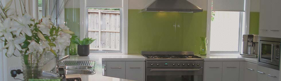 One of our Glass Splashbacks Projects in the Northern Beaches