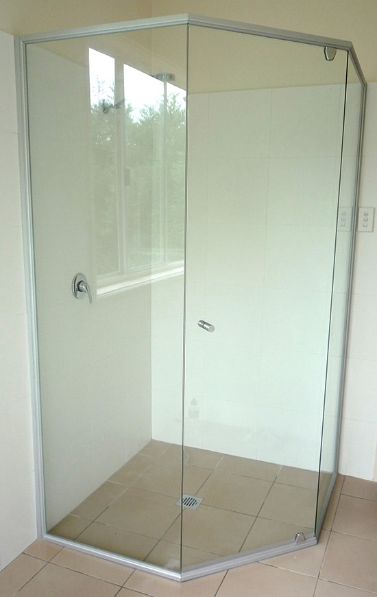 how to cut glass shower screen