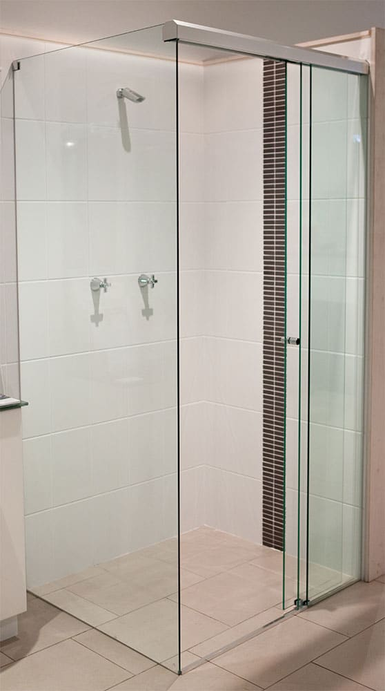 A Freshly Installed Shower Screen